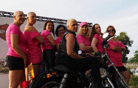 אופנועני הארלי דוידסון ישראל עושים רעש להעלאת המודעות לסרטן השד