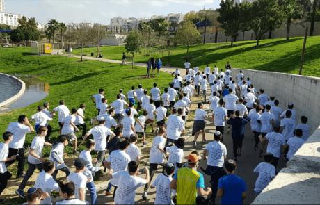 """ביוזמת תלמידי תיכון אמי""""ת במודיעין: למעלה מ-500 משתתפים במירוץ למען הדר גולדין"""