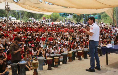 """1,500 מתנדבי נוער השתתפו באירוע מיוחד של מד""""א"""